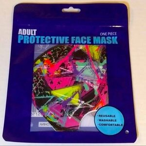 Abstract fashion face mask